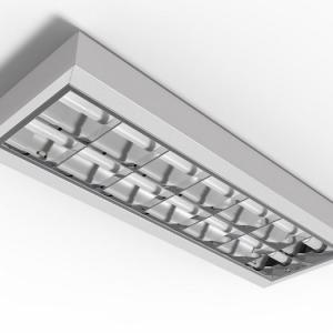 Luminaria aletada 2x18 led