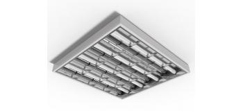 Luminaria aletada compacta